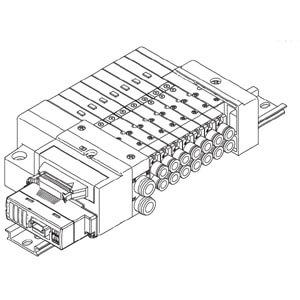 SS5Q13-SB, 1000 Series Plug-in Manifold for Series EX510