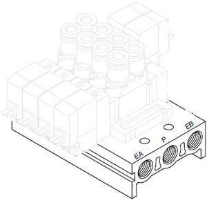 SS5Y5, 5000 Series, Bar Stock Manifold, Individual Wiring