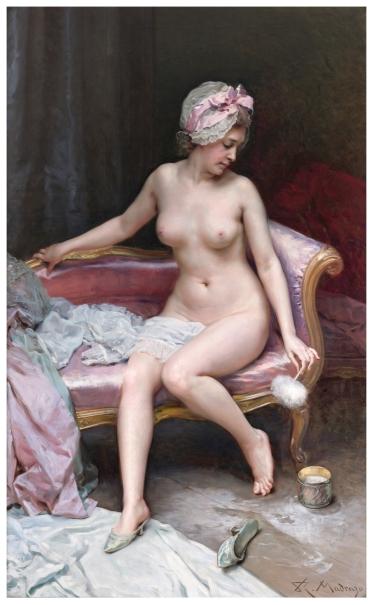 Despus del bao Desnudo de mujer  Coleccin  Museo