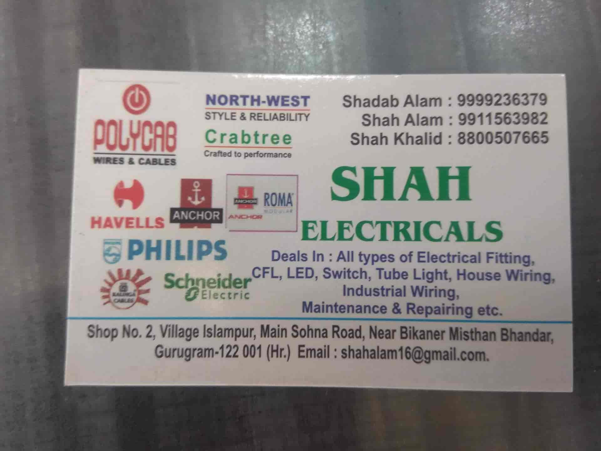 hight resolution of shah electricals sohna road electrical shops in gurgaon delhi justdial