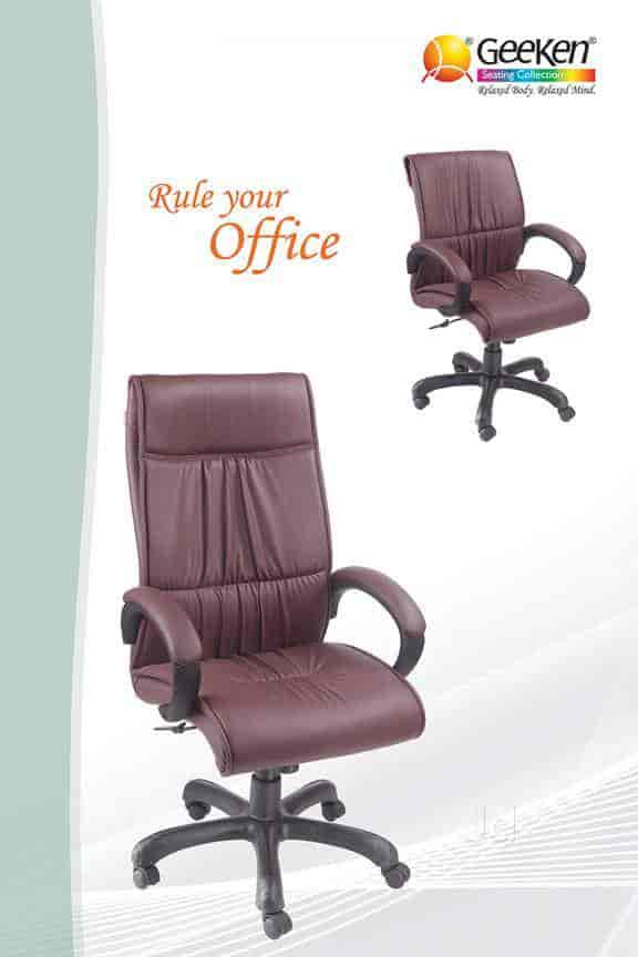 geeken revolving chair kitchen cushions walmart office furniture ludhiana bus stand dealers in justdial