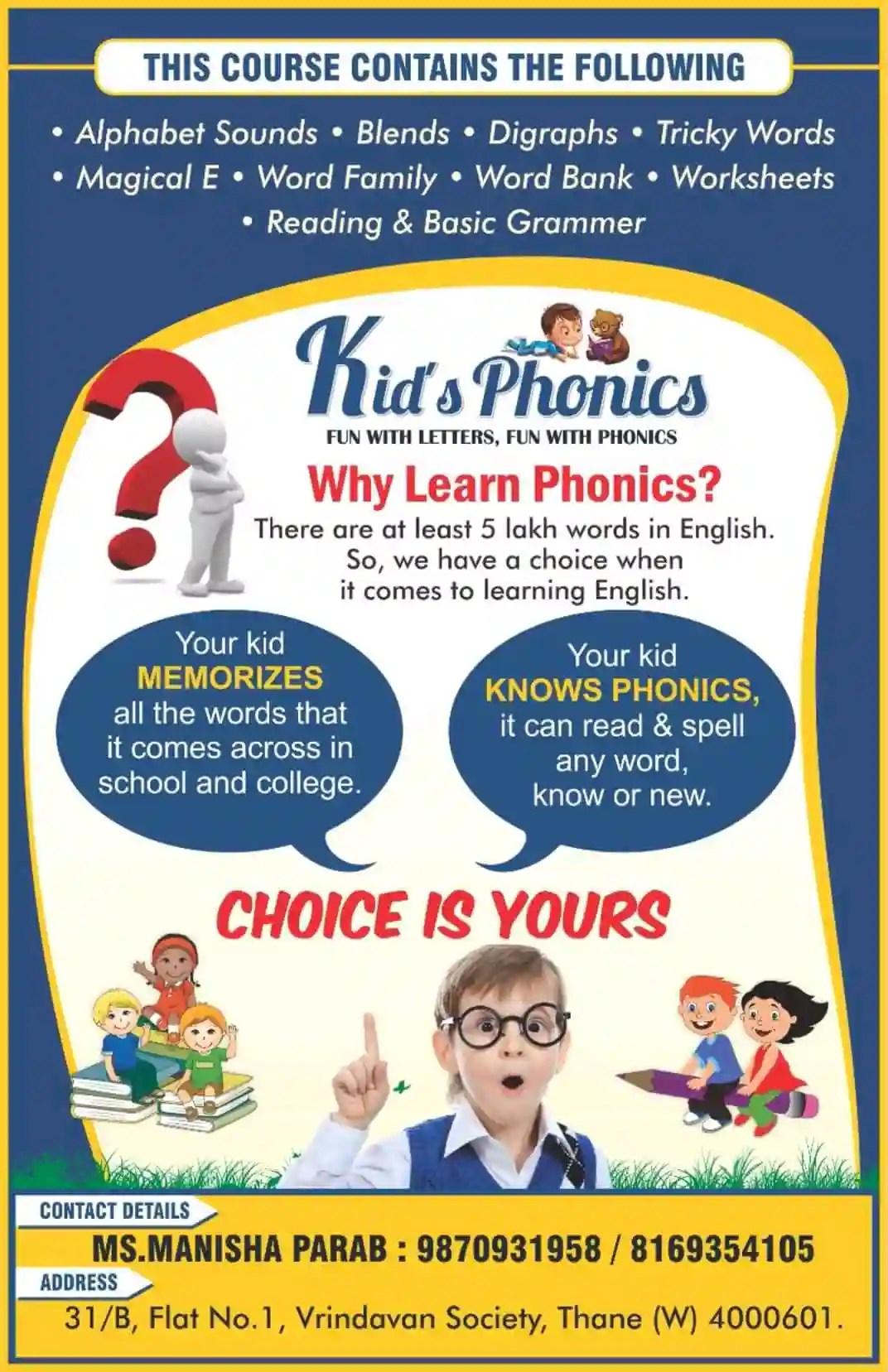 Teach Child How To Read Kid Phonics