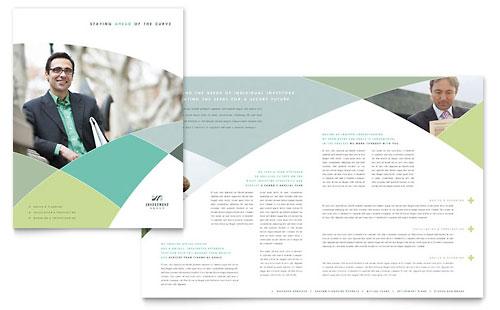 Financial Marketing Brochure Flyers Graphic Designs