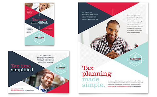 Accounting & Bookkeeping Flyer Templates Financial