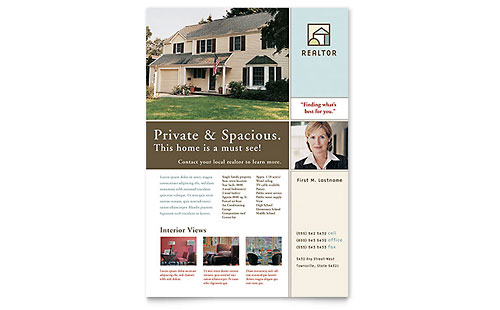 Real Estate Flyers Templates & Designs