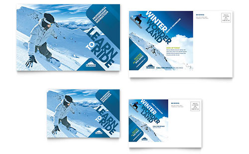 Ski Resort  Graphic Designs  Templates