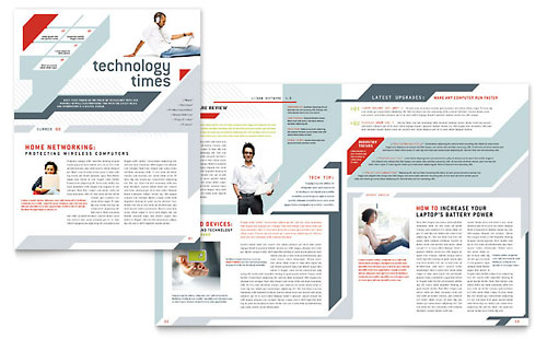 Technology Newsletters Templates & Designs