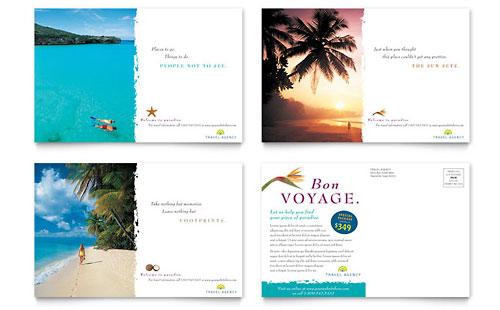 Hawaii Postcard Templates Travel & Tourism