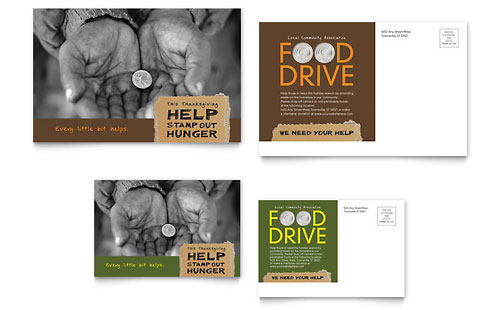 Non Profit Postcards Templates & Designs