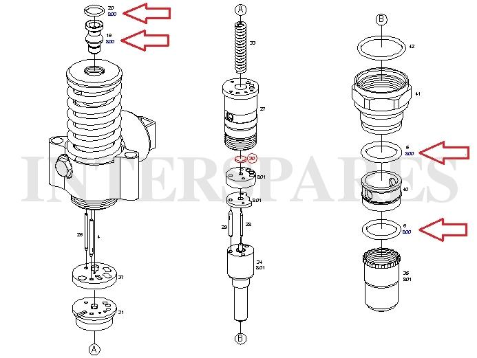BOSCH pump-nozzle unit repair kit PD2.0TDI Injector seal 1