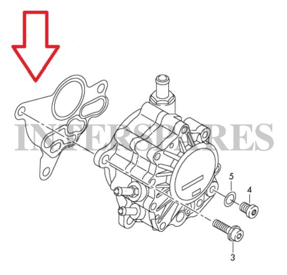 Vacuum Fuel Pump Tandem Pump Gasket VW Golf V Jetta III