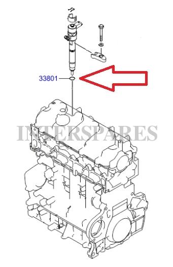 Bosch diesel fuel injector shim Hyundai Santa Fe I 2.0CRDI