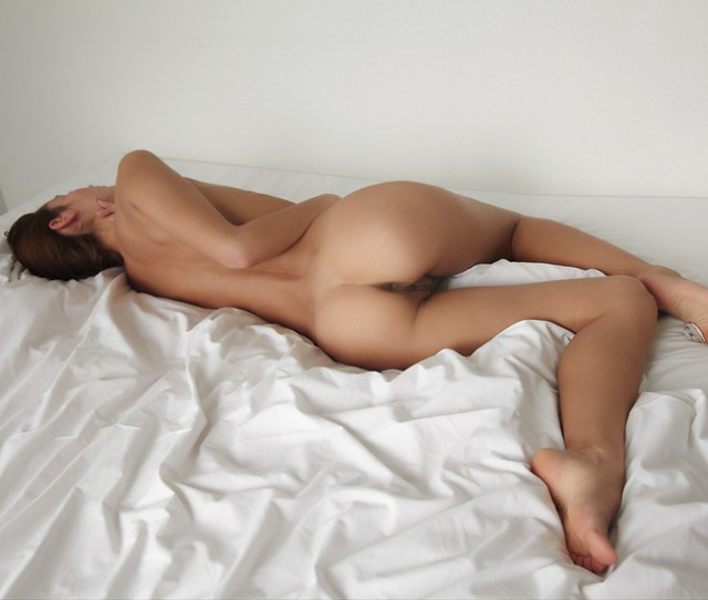 Naked Girl Posing In Her Bed Picture
