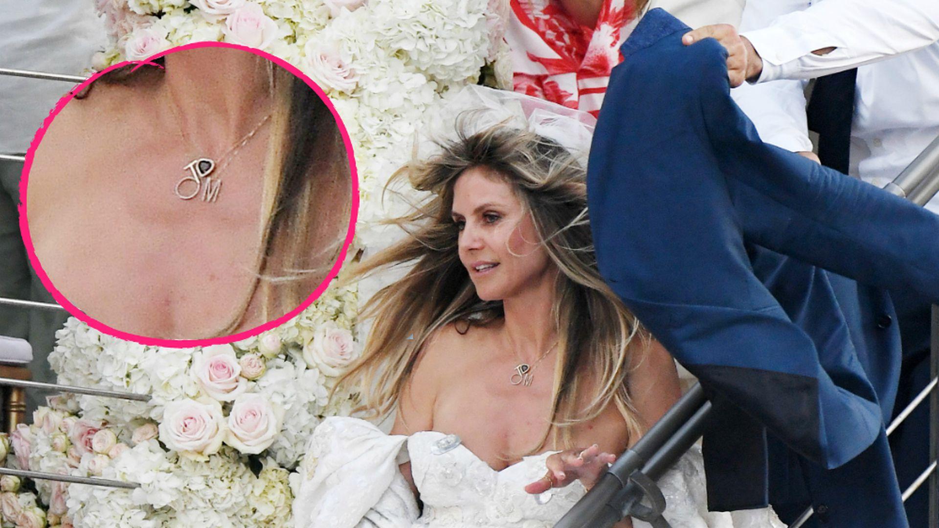 Ses Detail Heidi Klum trug zur Hochzeit eine Tom