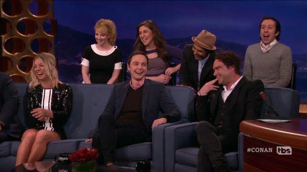 "Der ""The Big Bang Theory""-Cast in der Talkshow ""Conan"""