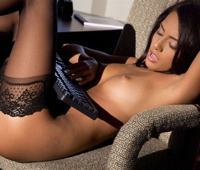 Janice Griffith In Black Stockings