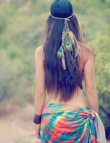 Feather boho look