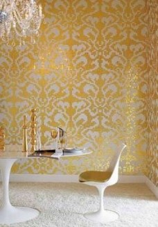 gold white tiles