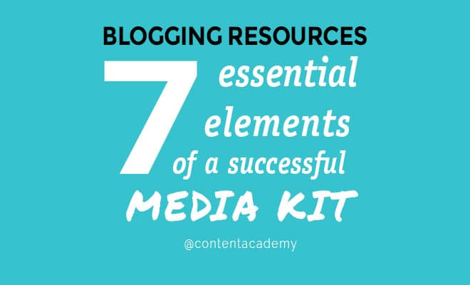 Seven elements of a successful media kit