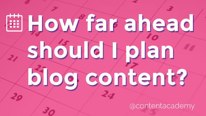 how to plan blog content