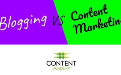 Video Quick Tip: Blogging vs Content Marketing