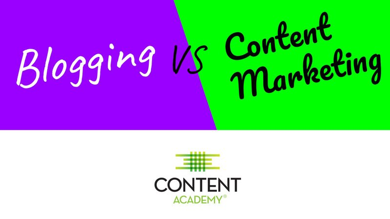 Video Quick Tip: Blogging vs Content Marketing
