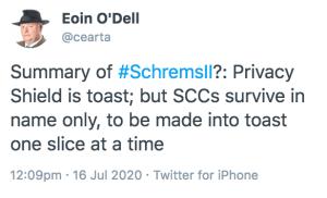 Tweet on SCCs