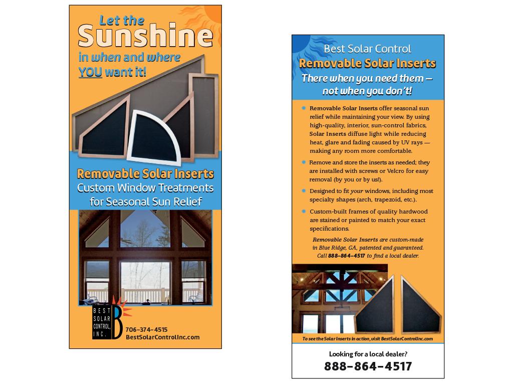 Best Solar Control rack card sample
