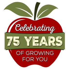 Mercier Orchards 75 years logo