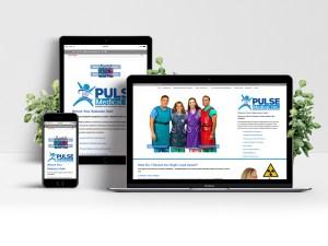 Web mock-up for Pulse Medical