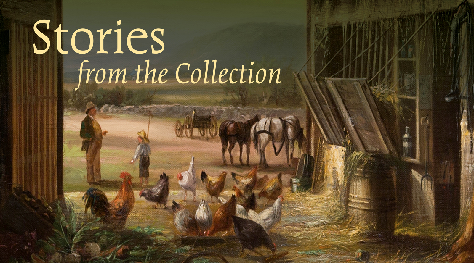 Stories from the Collection Fruitlands Museum of all the collections at the Fruitlands Museum, their land is the largest interpreting asset as their living collection