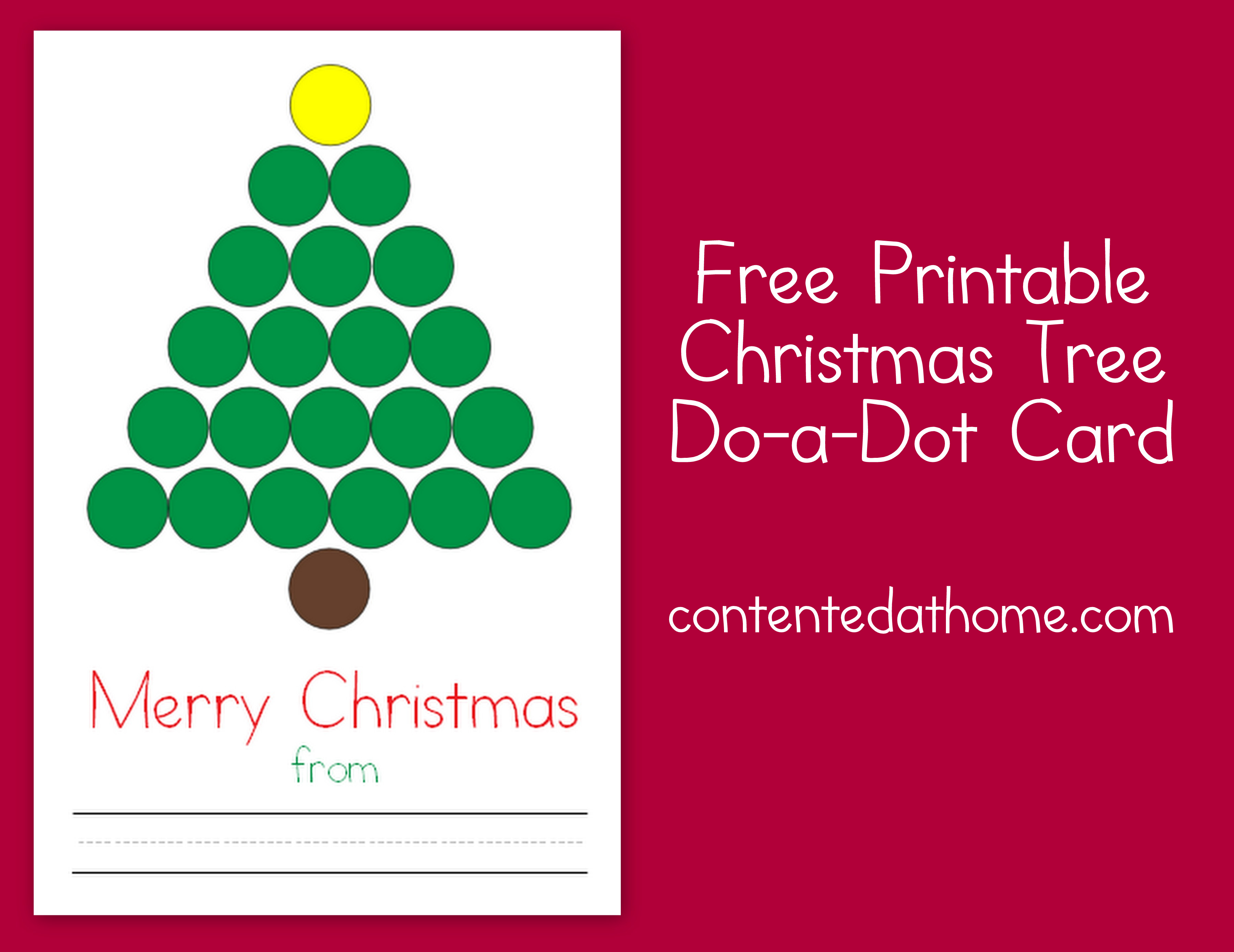 Christmas Tree Do A Dot Card