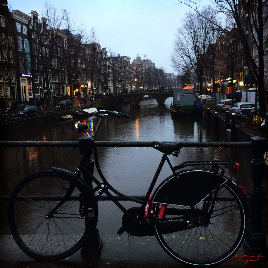 Bike on Canal Bridge