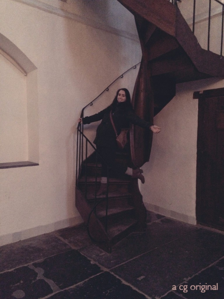 """chelsey standing on """"the stairway to heaven"""""""