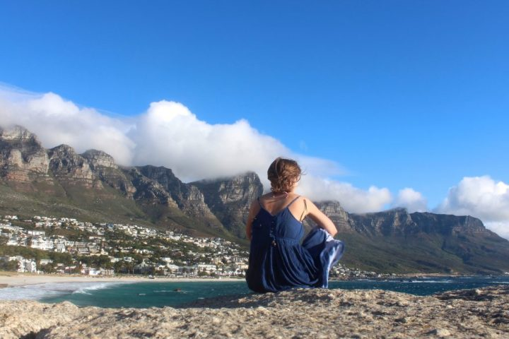 Watching the surfers in Camps Bay