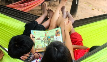 Reading in a Hammock