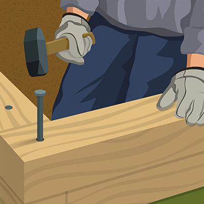 Installing Landscape Timber Edging The Home Depot