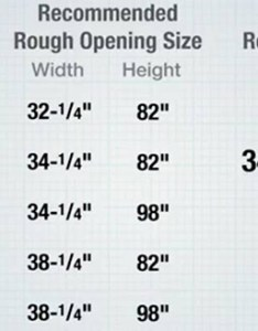 chart of exterior door measurements also types doors the home depot rh homedepot