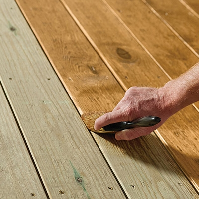 Best Exterior Wood Stains For Your Project The Home Depot   Best Wood For Outdoor Steps   Stair Railing   Stair Treads   Handrail   Treated Lumber   Stair Stringer