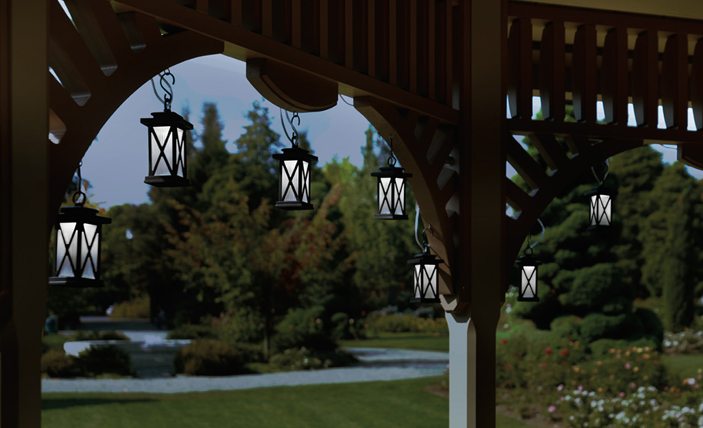 How To Hang Outdoor String Lights The Home Depot