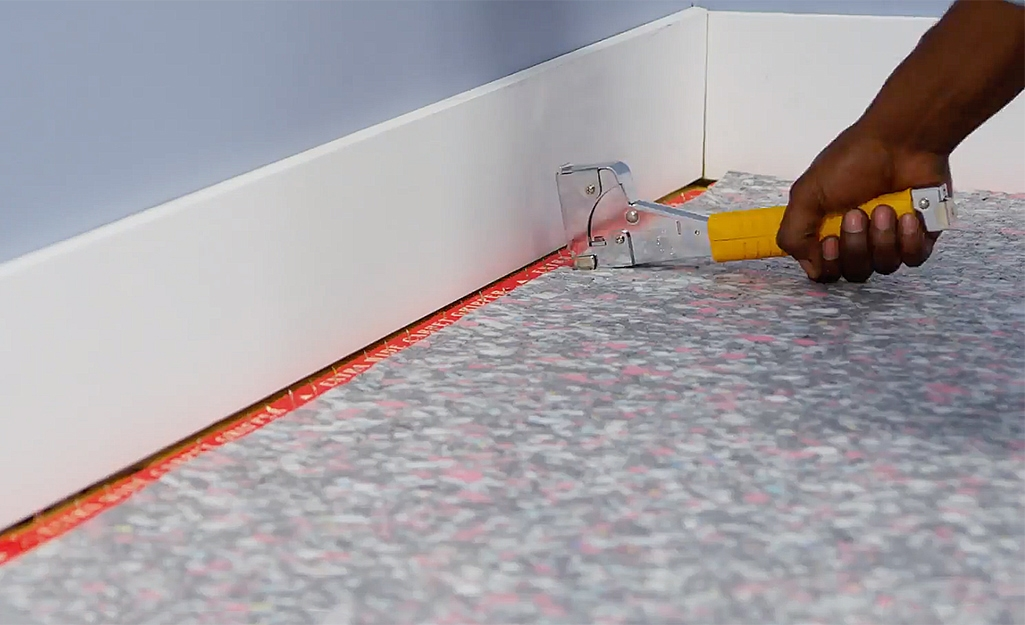How To Install Carpet The Home Depot   Carpet Strips For Steps   Curved Stair   Striped   Gorgeous   Stairway   Middle Stair