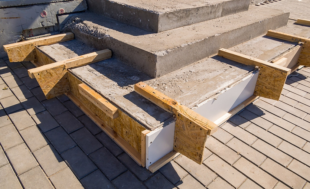 How To Repair Concrete Steps The Home Depot | Repairing Outdoor Wooden Steps | Staircase | Patio | Concrete Slab | Front Porch | Stringer