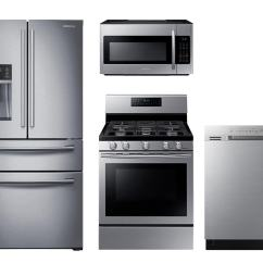 Kitchen Suite Deals Pegboard Appliance Packages The Home Depot Samsung Stainless Steel 4 Pc