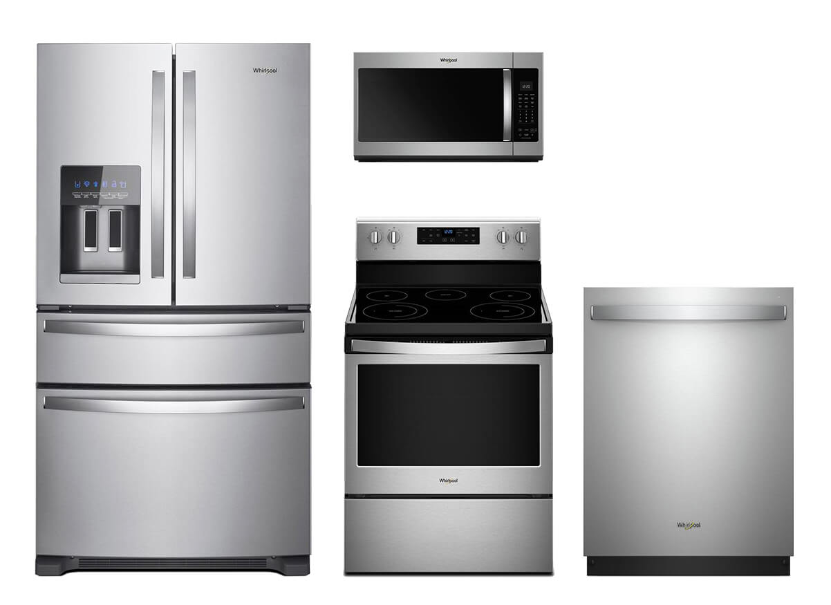 kitchen suite deals white quartz countertops appliance packages the home depot was 4446