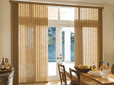 window coverings for large living room ideas with dark wood furniture treatments the home depot verticals consider windows