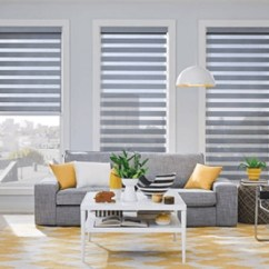 Window Blinds For Living Room Design Small Rooms Treatments The Home Depot Sheer Or Layered Shades