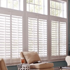 Window Blinds For Living Room Redesign Treatments The Home Depot Wood Shutters