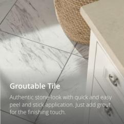 Kitchen Vinyl Craftsman Style Cabinets Flooring Floor Tiles Sheet Groutable Tile