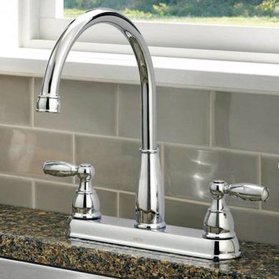 kitchen sink faucet owl rugs faucets at the home depot 2 handle standard