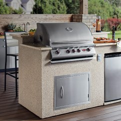 Grill For Outdoor Kitchen Stone Sink Kitchens The Home Depot Islands